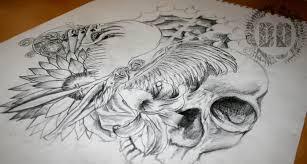 a guardian angel tattoo design good versus evil dark design