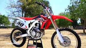 factory motocross bikes for sale 2016 honda crf450 dirt bike magazine youtube