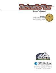 technetic plus 1000i manual