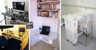 bureau palette bois fabriquer un bureau avec des palettes 20 idées