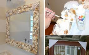 Home Decorating Mirrors by Marvelous Diy Shell Mirror