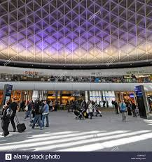 kings cross railway station departure concourse with mezzanine