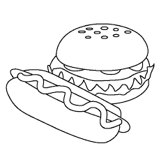 food hamburger models coloring pages for printable of