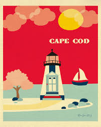 cape cod art print cape cod skyline cape cod wall art ma