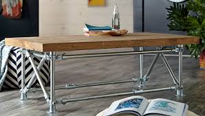 Pipe Coffee Table by Pipe Leg Coffee Table