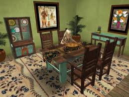 mexican dining table set second life marketplace sq mexican farmhouse dining room in