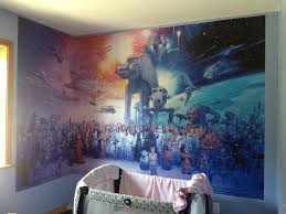 26 nerdy home designs for serious geeks star wars wall mural
