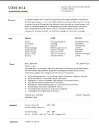 fashion resume templates fashion resume templates retail cv template sales environment within