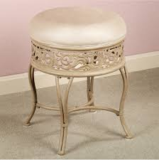 Vanity Stool On Wheels Semi Golden Vanity Chair With Round Cream Seat Also Carving