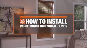 Rica Blinds How To Install Inside Mount Horizontal Window Blinds Decor How