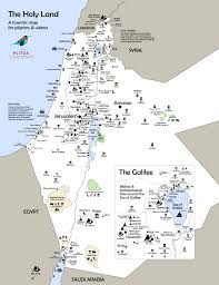 touristic map of holy land incoming tour operators association promoting the best