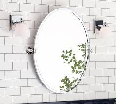 Black Oval Bathroom Mirror Kensington Pivot Oval Mirror Pottery Barn