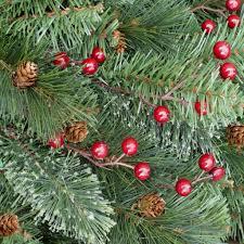 7 5 ft unlit decorated pine cones berries yonkers