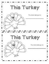 turkey activity emergent reader thanksgiving activities