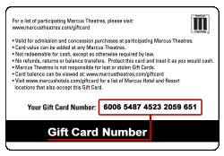 theater gift cards theatres