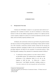 design and build contract jkr chapter 1 introduction 1 1 background of the study