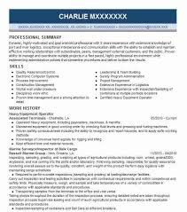 Production Operator Resume Sample by Best Heavy Equipment Operator Resume Example Livecareer