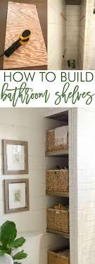 ideas for bathroom shelves best 25 bathroom shelves ideas on half bathroom decor