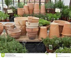 clay flower pots 2 stock photo image 11942720