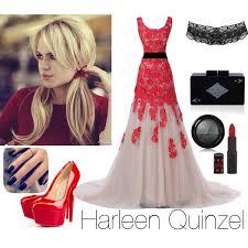harley quinn wedding dress villains dc wayne charity harley quinn polyvore