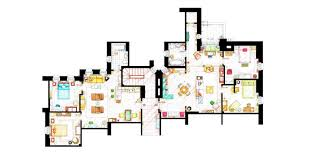 Tv Show Apartment Floor Plans Tv House Floor Plans House Design Plans