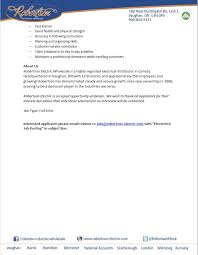 Resume To Job by Robertson Electric Robertsonelectr Twitter