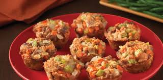 italian sausage dressing cups thanksgiving side dish recipe from