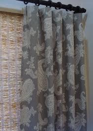 custom curtain panels p kaufmann chelsea silver grey paisley