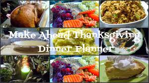 make ahead thanksgiving dinner planner foodie friday