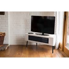 white corner television cabinet remote friendly gloss beamthru tv cabinets entertainment stands