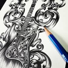 purple haze guitar art on behance
