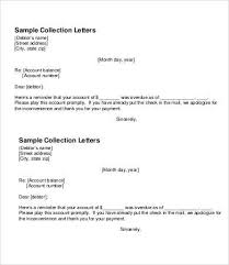 collection letter template follow up collection letter template