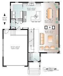 house plan layout w3880 large modern house plan 4 bedrooms open floor plan