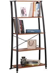 Bookshelf Book Holder Amazon Com Yaheetech Wood Tabletop Book Holder Shelf Storage