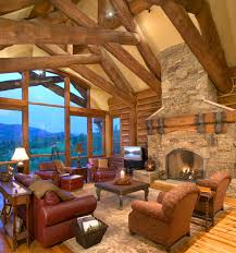 Photos Of Traditional Living Rooms by Hybrid Log House On Golf Course Traditional Living Room