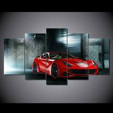 ferrari art ferrari f12 n largo 5 piece canvas art u2013 cars by guff