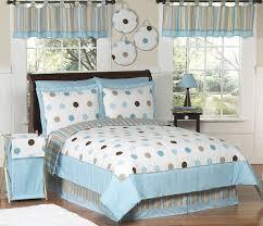 Blue Bed Sets For Girls by Blue Brown Polka Dot Bedding Full Queen Girls Comforter Sets