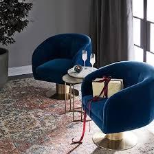 Retro Swivel Chairs For Living Room Design Ideas Tufted Pedestal Swivel Chair Velvet Navy Swivel Chair Living