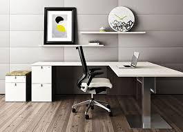 White L Shaped Desks Contemporary L Shaped Desk Modern Shape In 4 Interior