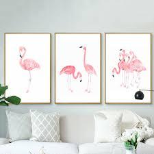 Kids Room Prints by Aliexpress Com Buy Modern Pink Flamingos Canvas Paintings