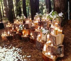 wedding altar backdrop diy décor for a budget friendly wedding wood stumps altars and