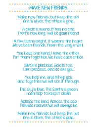 New Lyrics Make New Friends Printable Scout Song Lyrics