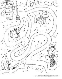 winter maze activity page create a printout or activity