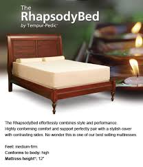 tempur pedic bed cover tempur pedic bedderrest mattresses and furniture for less