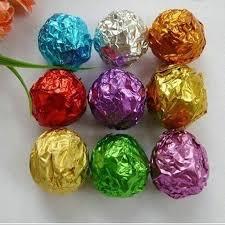 colorful aluminum foil wrapping paper chocolate tea tin foil