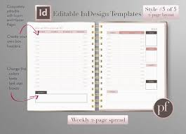 day planner template indesign weekly calendar indesign template stationery templates