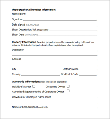 Property Information Sheet Template Sle Property Release Form 14 Free Documents In Pdf