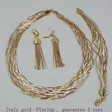 design modeschmuck aliexpress neues design modeschmuck set italien gold 3 farbe