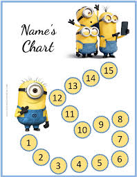 free behavior charts with the minions add your own photo u0026 text
