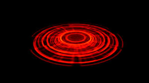 tron hologram portal vortex spin on the ground red color alpha